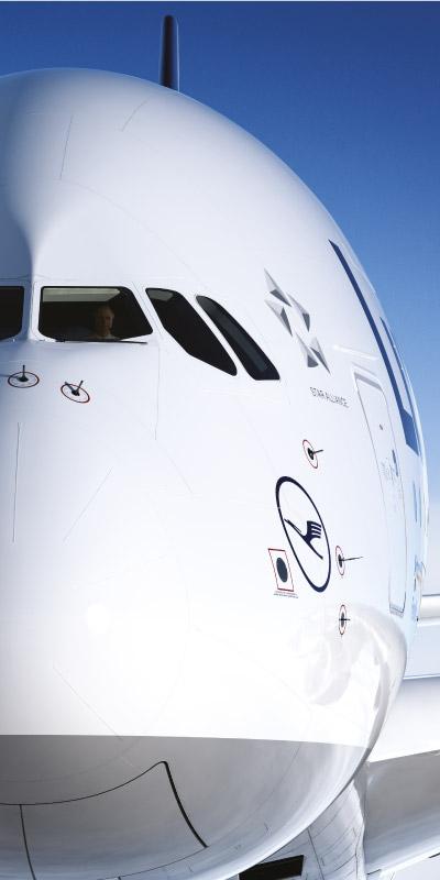 Een rollup banner voor Lufthansa
